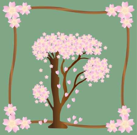 Sakura Vector. Cherry Blossom Tree Vector.
