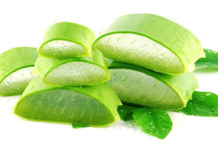 aloe barbadensis: Aloe Vera (Aloe barbadensis Mill.,Star cactus, Aloe, Aloin, Jafferabad or Barbados) a very useful herbal medicine for skin treatment and use in spa for skin care.