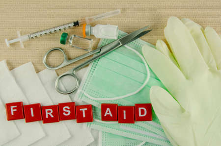 Medical Supply, Medical Emergency, First Aid Kit. photo