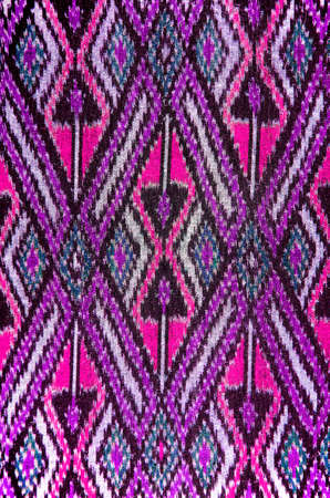 hand woven: Pattern of Thai Hand Woven Cotton Fabric for Clothing and Home Decoration.