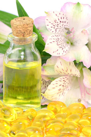 primrose oil: Vitamin Capsule and Pharmaceutical Oil from Natural Product.