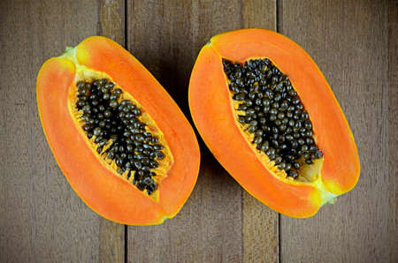 vitamin rich: Ripe papaya, Pawpaw or Tree melon (Carica papaya L) which Rich in Betacarotene, Vitamin C, Fiber and Papine Enzyme.