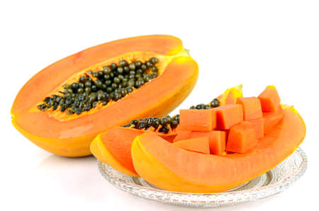 l natural: Ripe papaya, Pawpaw or Tree melon (Carica papaya L) which Rich in Betacarotene, Vitamin C, Fiber and Papine Enzyme.