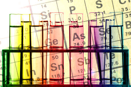 reagents: Chemical Reagents and Periodic Table. Stock Photo