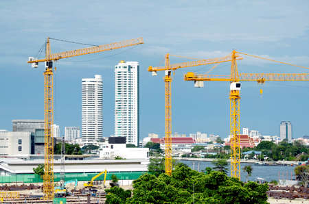 construction project: Construction Ceane for Hight Building Project with the River View.