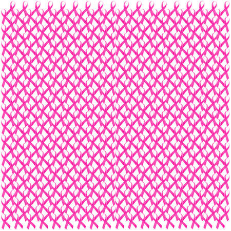 Breast Cancer Awareness Pink Ribbon Seamless Pattern.