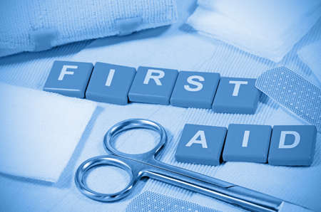 first aid sign: First Aid Sign. Stock Photo