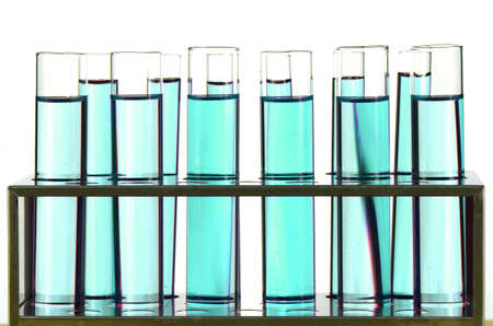 stinks: Test Tube in Close-up on White Background. Stock Photo