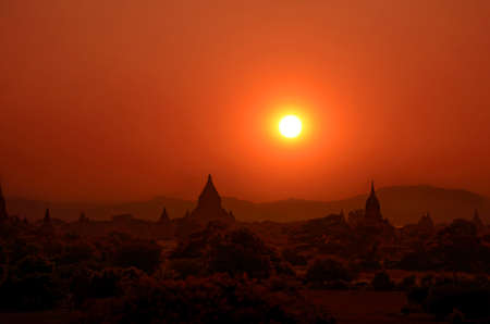 Bagan in Sunset.