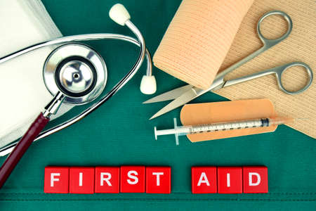 the first: First Aid Kit, Medical Supply, Medical Emergency.