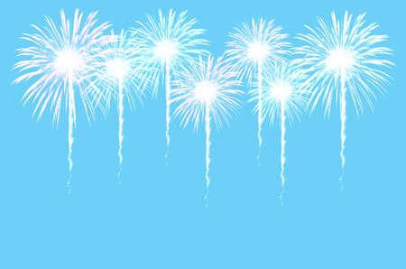 fires artificial: Colorful fireworks celebration on dark background.