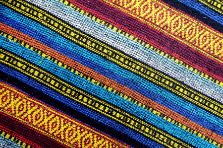 thailand fabrics: Cross stitch embroidery on canvas.Tribal handmade woven cotton fabrics form Chiengmai, Thailand. Pattern for design element.