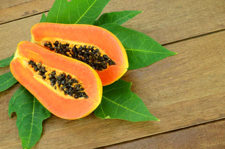 l agriculture: Ripe papaya, Pawpaw or Tree melon (Carica papaya L) which Rich in Betacarotene, Vitamin C, Fiber and Papine Enzyme.