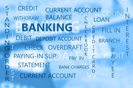 payee: Banking Business Essential Backdrop with Dollars Banknote and Credit Card Background. Stock Photo