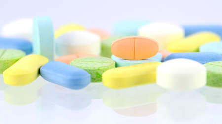 Medicine background, Pharmacy background, Medicine template in pastel tone.