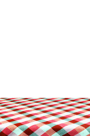 picknick: Picnic table with tablecloth isolated on white background with clipping path.