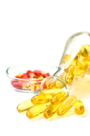 Soft gelatin capsule use in pharmaceutical manufacturing for contain oily drug and nutritional supplement like vitamin A E fish oil primrose oil rice barn oil and other oily drugs.