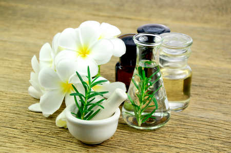 Rosemary and essential oil for homeopathy remedy.