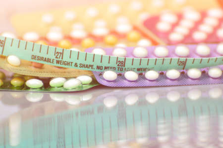 Contraceptive pill  in concept of no weight gain effect.