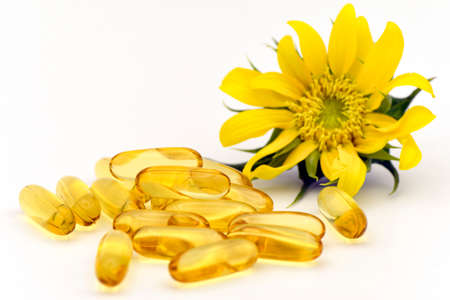 Dietary supplement capsule from natural ingredients.