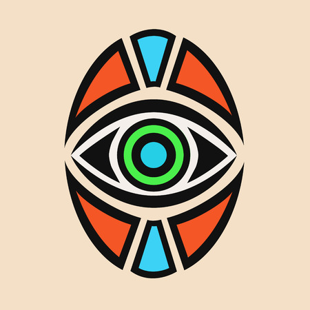 helps: Tattoo all-seeing eye, with the addition of different colors of paints and helps people!