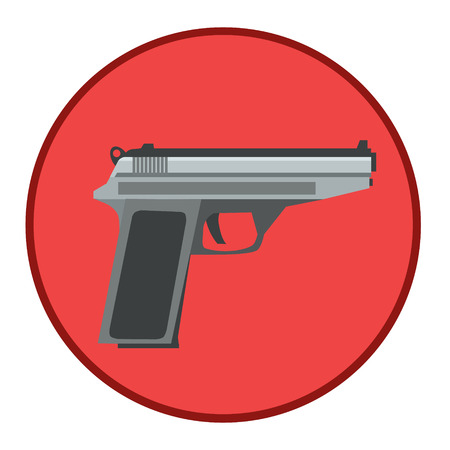 gunpoint: A gun to protect people from bad bandits, suitable as an icon, and icon for the site