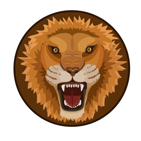 lion claw: Lion king of beasts the predator is a huge strength of the movement of muscles, claws and teeth, icons, icon, and website Illustration