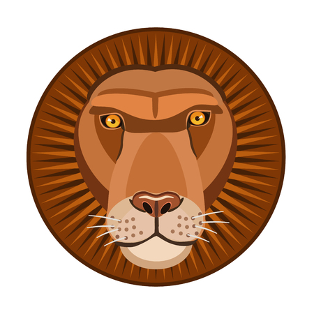 immense: Lion the king of beasts immense strength of claws and teeth, for icons, icon and website