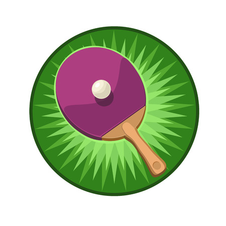 fast computer: Icon Sports table tennis racket and ball and hitting stars for the icon and Site
