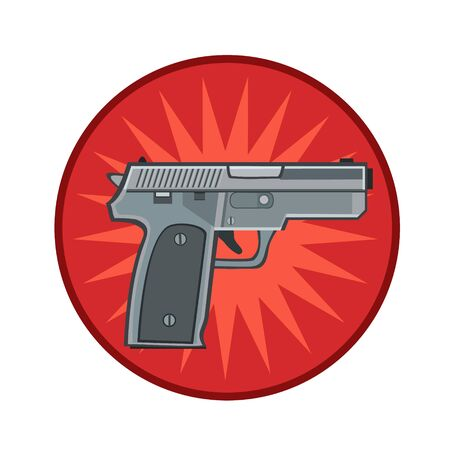 bandits: Icon weapon the gun to protect from bandits, suitable for icon and website