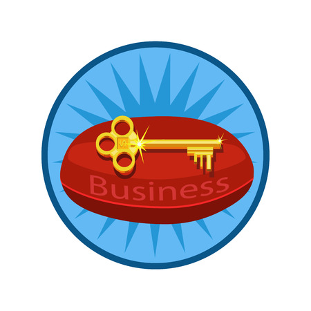 Icon business keys they lie on cushions of red, and share knowledge how to earn money, suitable for icon and website