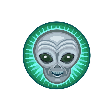 beings: Icon alien grey for fans of ufo s and alien beings, icon and website