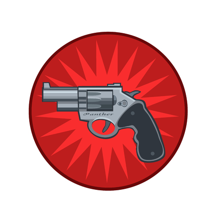 gunpoint: icon pistol gun with a rotating drum for the icon and the website