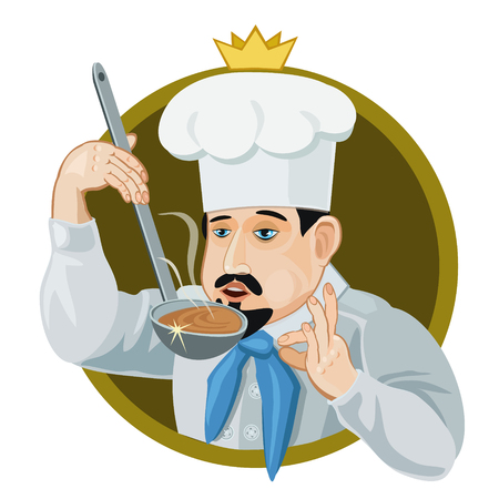 Icon King will cook a delicious dish and try a large ladle his taste for icons and website