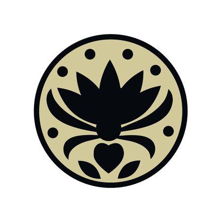 Tattoo Blume erblüht, Pollen fliegen um die Welt und gibt Freude, Glück und Schönheit, Liebe und Harmonie
