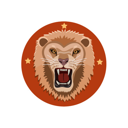 growling: Icon growling lion, body protection and energy force which is created by these animals to survive in this world