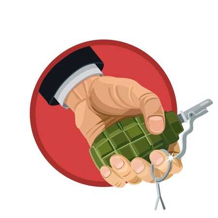 fragmentation: Explosive fragmentation grenade in my hands to play a joke on your friends icon and website and for fans of extreme sports
