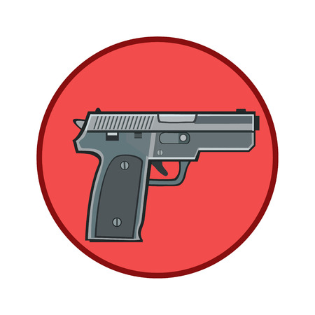 bandits: Icon gun weapons for defense and attack for lovers of weapons and the desire to use it for protection from bandits