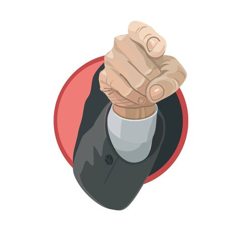 subdue: The index finger shows on the target, or specifies makes, and youre ready for action, you will be able to achieve the goal Illustration