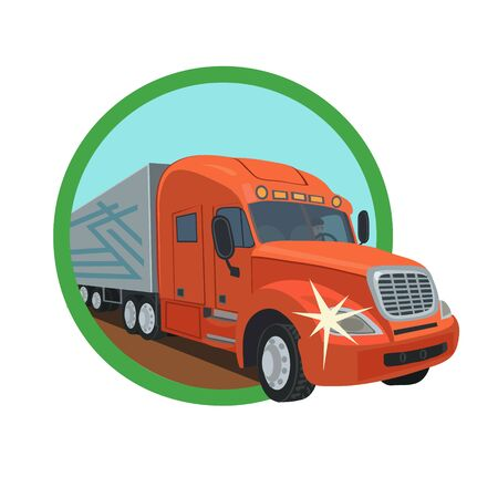 transported: Freight cars are transported by truck drivers, heavy and light goods wholesale and retail on the roads of our planet