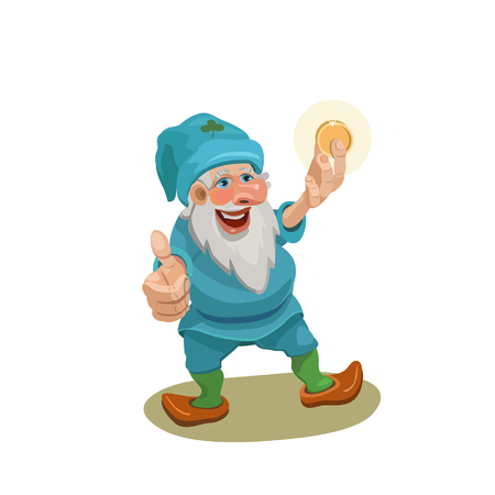 Dwarf here, a gold coin looks at it and shows his hand with his thumb that all will be well with You in business!
