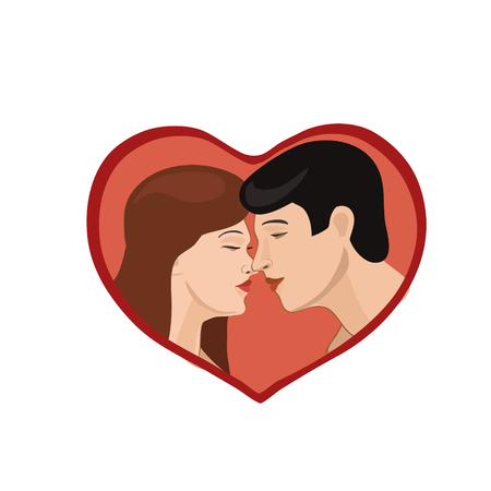unite: The love of different ages, women and men, brings together in one heart of love and destiny in joy and happiness, and prosperity of the world! Illustration