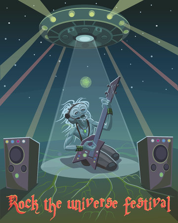 Rock musician alien alien came to the festival to show their abilities in music and in the performance of the voice!