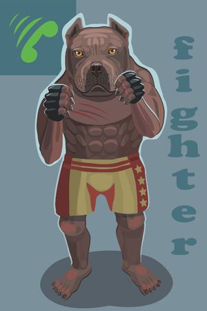 Dog fighter he protects and attacks his enemies is a screensaver on your mobile phone who is calling you