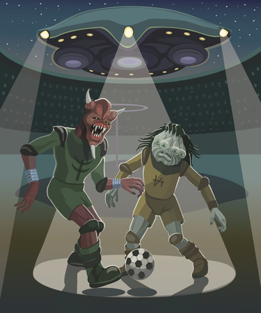 In the game of goals in the ring! Illustration