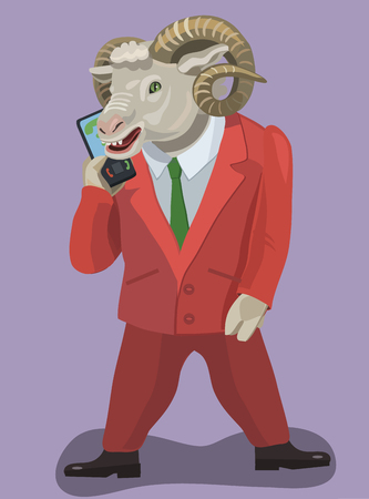 Sheep up your mobile phone Illustration