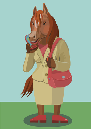 Horse calls on the phone