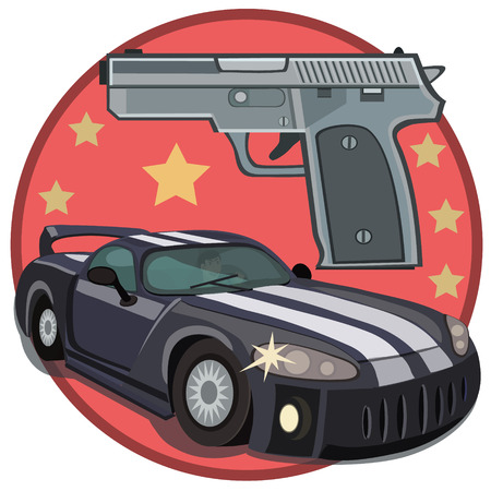 Desire car and gun