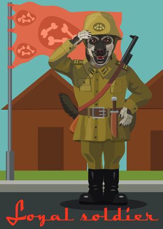 It is a warrior soldier dog!