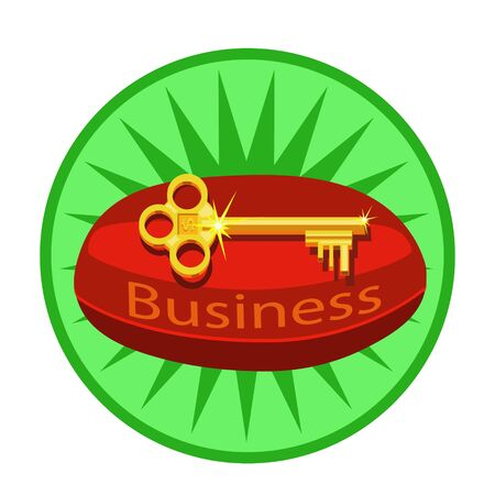 Business keys they lie on the red cushion, share knowledge, how to make money and enjoy life, suitable for icon and website or banner Foto de archivo - 134838941